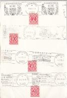 Ö-Nachporto 1975 - 2 + 10 + 30 + 20 Gro Nachporto Auf Karte Mit Weinwerbung - Impuestos