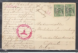 Postkaart 357 Gouda Naar Gent Belgie Met Censuur Stempel (425) - Lettres & Documents