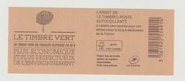 "FRANCE - CARNET N° 858 C1 - NEUF** NON PLIE - Marianne De Ciappa-Kawena "" LE TIMBRE VERT "" - Standaardgebruik"