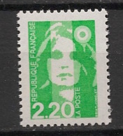 France - 1993 - N°Yv. 2790b - Briat 2f20 Vert Clair - Sans Phosphore - Neuf Luxe ** / MNH / Postfrisch - Varietà E Curiosità