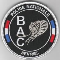 Écusson Police BAC Sèvres - Serpent Fil D'argent (92) - Polizei