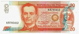 LOT052 - Banknote Philippines 20 Dalawampung Piso Republika Ng Pilipinas Manuel Quezon 2009 - Filipinas