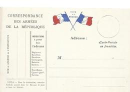 CARTE FRANCHISE MILITAIRE 14/18 - SIMPLE - NEUVE - 17 - Marcophilie (Lettres)