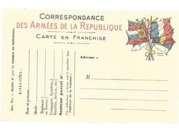 CARTE FRANCHISE MILITAIRE 14/18 - SIMPLE - NEUVE - 18 - FM-Karten (Militärpost)