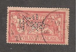 Perforé/perfin/lochung France Merson No 119 JZC J. Zuber Et Cie - France