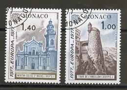 Monaco 1977 Y&T N°1101 à 1102 - Michel N°1273 à 1274 (o) - EUROPA - Used Stamps