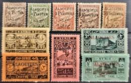 ALAOUITES 1925 - Unused - YT 1-10 - Chiffre Taxe - Neufs