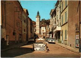 CPSM DE GONFARON  (VAR)  RUE DE L'HORLOGE - Other Municipalities