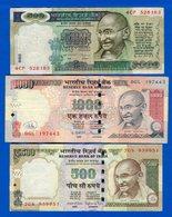 Inde  500  Roupée  Sig 87  +  2  Billets - India