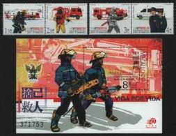 Macau 2001 - Mi-Nr. 1143-1146 & Block 90 ** - MNH - Feuerwehr / Firefighters - 1999-... Chinese Admnistrative Region