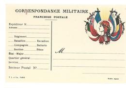 CARTE FRANCHISE MILITAIRE 14/18 - SIMPLE - NEUVE - 29 - Marcophilie (Lettres)
