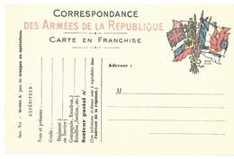CARTE FRANCHISE MILITAIRE 14/18 - SIMPLE - NEUVE - 32 - Marcophilie (Lettres)