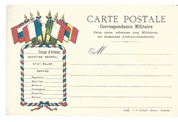 CARTE FRANCHISE MILITAIRE 14/18 - SIMPLE - NEUVE - 34 - Marcophilie (Lettres)
