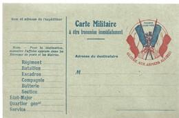 CARTE FRANCHISE MILITAIRE 14/18 - SIMPLE - NEUVE - 36 - Marcophilie (Lettres)