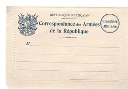 CARTE LETTRE FRANCHISE MILITAIRE - NEUVE - BON ETAT - 1 - Marcophilie (Lettres)