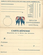 CARTE FRANCHISE MILITAIRE - DOUBLE - NEUVE - BON ETAT - 2 - FM-Karten (Militärpost)