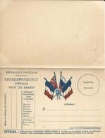CARTE FRANCHISE MILITAIRE - DOUBLE - NEUVE - BON ETAT - 3 - FM-Karten (Militärpost)