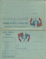 CARTE FRANCHISE MILITAIRE - DOUBLE - NEUVE - BON ETAT - 5 - FM-Karten (Militärpost)