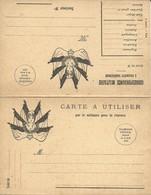 CARTE FRANCHISE MILITAIRE - DOUBLE - NEUVE - BON ETAT - 7 - FM-Karten (Militärpost)