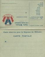 CARTE FRANCHISE MILITAIRE - DOUBLE - NEUVE - BON ETAT - 8 - FM-Karten (Militärpost)