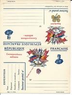 CARTE FRANCHISE MILITAIRE - DOUBLE - NEUVE - BON ETAT - 9 - FM-Karten (Militärpost)