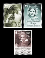 Gibraltar 2020 Mih. 1956/58 Chemist Rosalind Franklin. Nurse Florence Nightingale. Composer Ludwig Van Beethoven MNH ** - Gibraltar