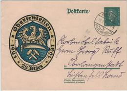 Ganzsache Ebert Oberschlesien - Saarau Schweidnitz 1931 - An Korbmöbelfabrik Oberlangenstadt - Deutschland