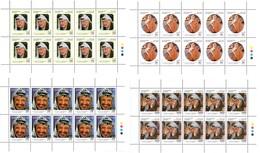 2011 Palestinian The Leader Yasser Arafat Complete Sheets 10 Set 4 Values MNH - Palästina