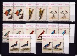 1989 Vaticano Vatican UCCELLI  BIRDS 2 Serie Di 8v. Coppia MNH** - Vatican