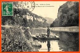 CPA 25 Vallée Du Doubs - Entrée Du Bassin De La Charbonnière (Chasseur Et Ses Chiens - Chasse) ° Simon édit. Maiche - Non Classés