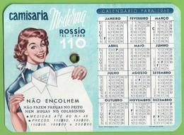 Lisboa - Portugal Senhora Calendário De 1960 Da Camisaria Moderna No Rossio - Calendarios
