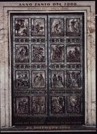 1999 Vaticano Vatican PORTA SANTA  HOLY DOOR Foglietto MNH** Souv.Sheet B - Blocs & Feuillets