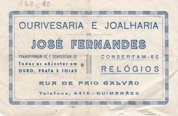 PORTUGAL COMMERCIAL DOCUMENT - OURIVESARIA E JOALHARIA - JOSÉ FERNANDES - GUIMARÃES - 1954 - Portugal