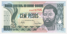 LOT060 - Banknote Guinea-Bissau 100 Cem Pesos 1990 Domingo Ramos Banco Central Guiné-Bissau - UNC - Guinea-Bissau