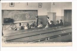 Carte De THONON LES BAINS Institut Du Sacré Coeur CRETE Salle De Physique ( Recto Verso ) - Thonon-les-Bains