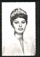 AK Schauspielerin Sophia Loren Mit Bildschönem Diadem - Schauspieler