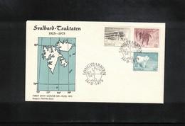 Norway 1975 Svalbard / Spitzbergen Svalbard Treaty FDC - Polar Philately