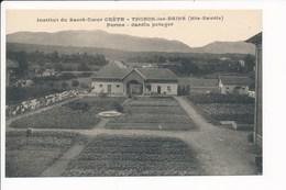 Carte De THONON LES BAINS Institut Du Sacré Coeur CRETE Ferme Jardin Potager  ( Recto Verso ) - Thonon-les-Bains