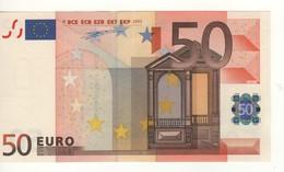 """50 EURO  """"S""""  ITALIA    Firma  Duisenberg     J 007 F3   /  A-UNC - EURO"""