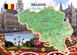 Belgium Country Map New Postcard Belgique Belgien Landkarte AK - Otros