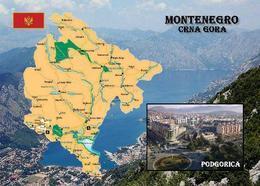 Montenegro Country Map New Postcard Landkarte AK - Montenegro