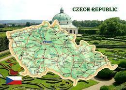 Czech Country Republic Map New Postcard Tschechien Landkarte AK - República Checa