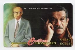 SAINTE LUCIE REF MV CARDS STL-147B Année 1997 EC53$ 147CSLB Nobel Laureates - St. Lucia