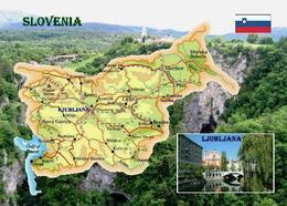 Slovenia Country Map New Postcard Slowenien Landkarte AK - Eslovenia