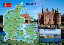 Denmark Country Map New Postcard Dänemark Landkarte AK - Dinamarca