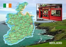 Ireland Country Map New Postcard Irland Landkarte AK - Otros