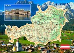 Austria Country Map New Postcard Österreich Landkarte AK - Otros