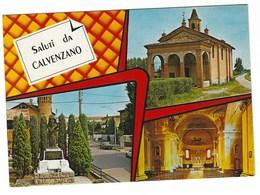 6471 -  CALVENZANO BERGAMO 3 VEDUTE 1970 CIRCA - Altre Città