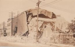 Santa Barbara California, 1925 Earthquake Damage, Posters On Wall, C1920s Vintage Real Photo Postcard - Santa Barbara