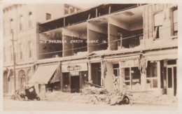 Santa Barbara California, Earthquake Damage, Business Signs, C1920s Vintage Real Photo Postcard - Santa Barbara